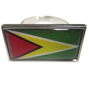 Guyana Flag Fashion Ring